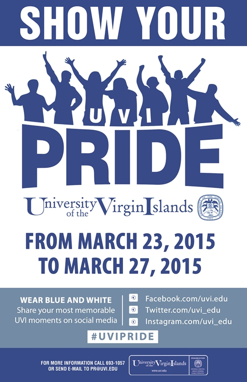 UVI Pride Week 2015 Set for March 23 to 27, 2015