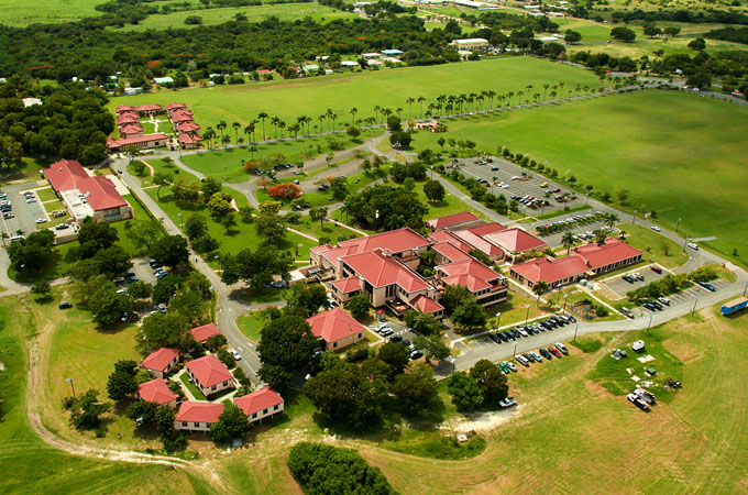 The Albert A. Sheen Campus is located on the big island of St. Croix, United States Virgin Islands.