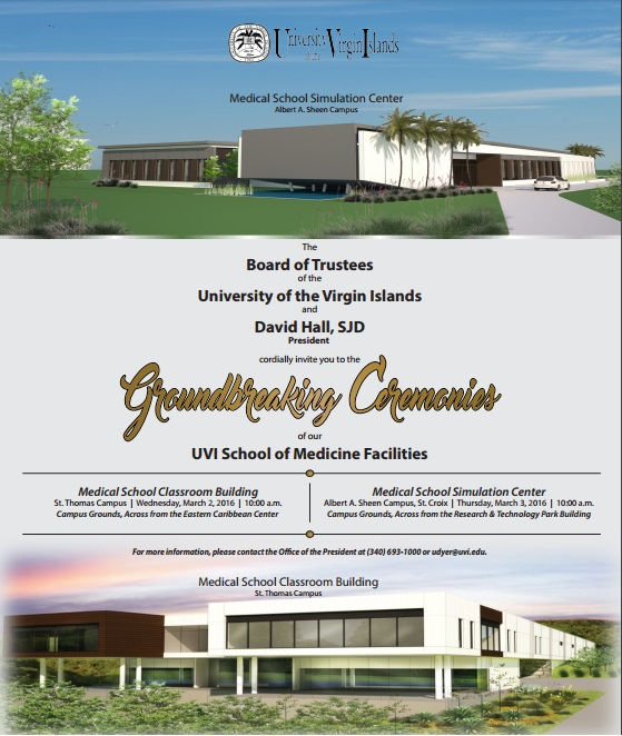 Groundbreaking Ceremonies for the University's Medical School Facilities