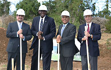 UVI President David Hall and Officials break ground for School of Medicine