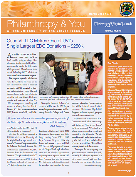 Latest Issue of Philanthrophy and You