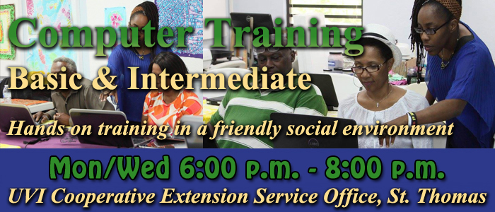 Computer Training on St. Thomas - Click picture for schedule