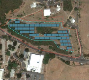 Rendering of UVI STT Campus Photovoltaic Project