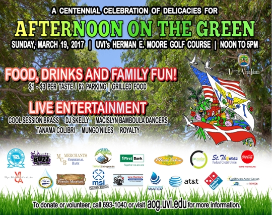 Afternoon on the Green 2017 flyer