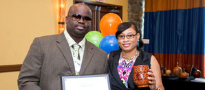 Cyril and Germene Thomas, owners of Just Threads, received the VI-SBDC 2014 Small Business of the Year award on St. Thomas.