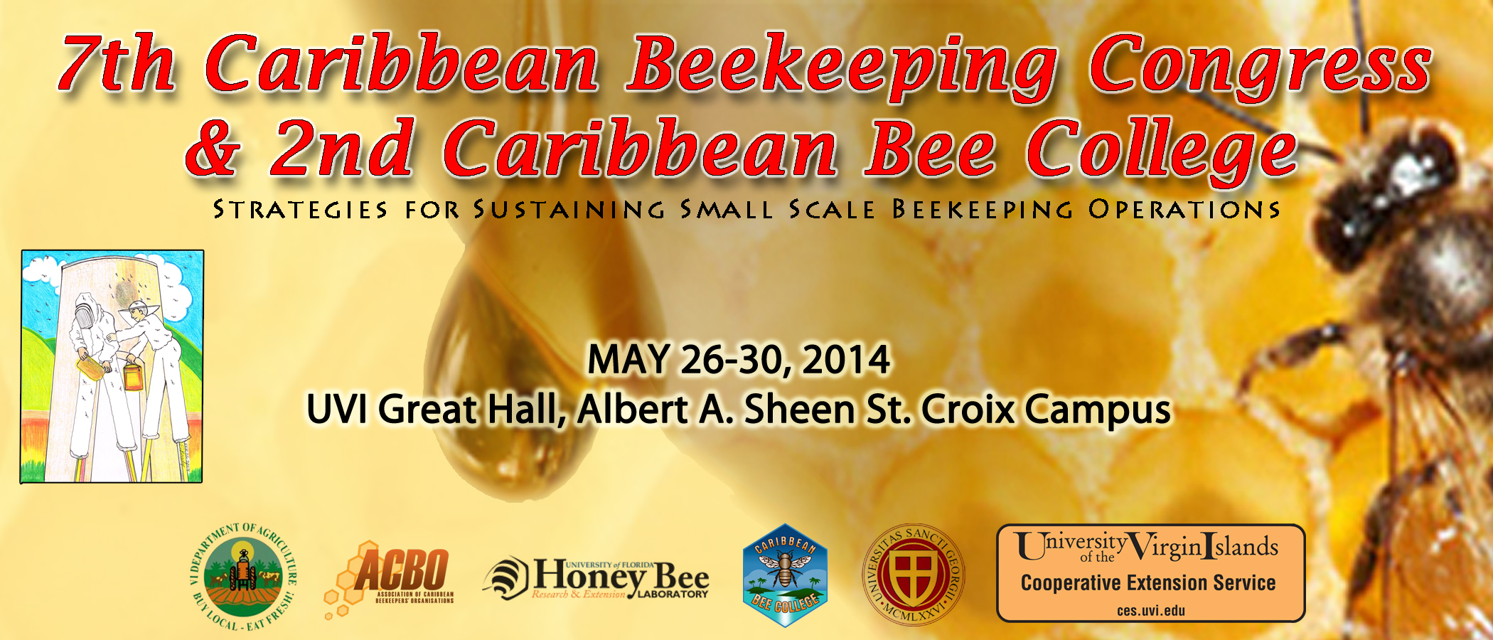 Save the Date: UVICES to Host 7th Caribbean Beekeeping Congress on St. Croix from May 26 to 30 on St. Croix