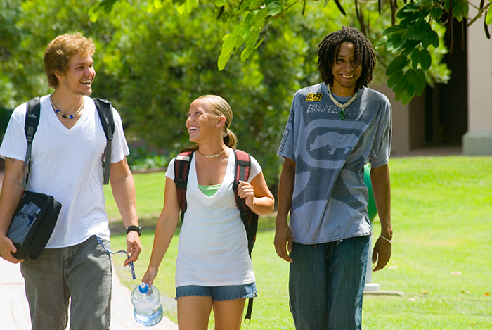 Students on the St. Croix campus.