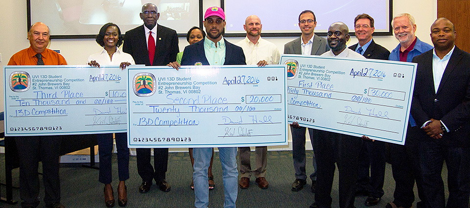 UVI Student Entrepreneurs Win $60,000 at 13D Competition