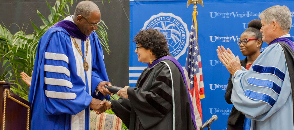 Supreme Court Justice Sonia Sotomayor Addresses UVI Students