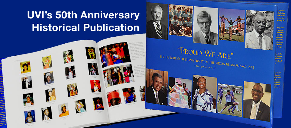 Banner featuring UVI's historical publication,