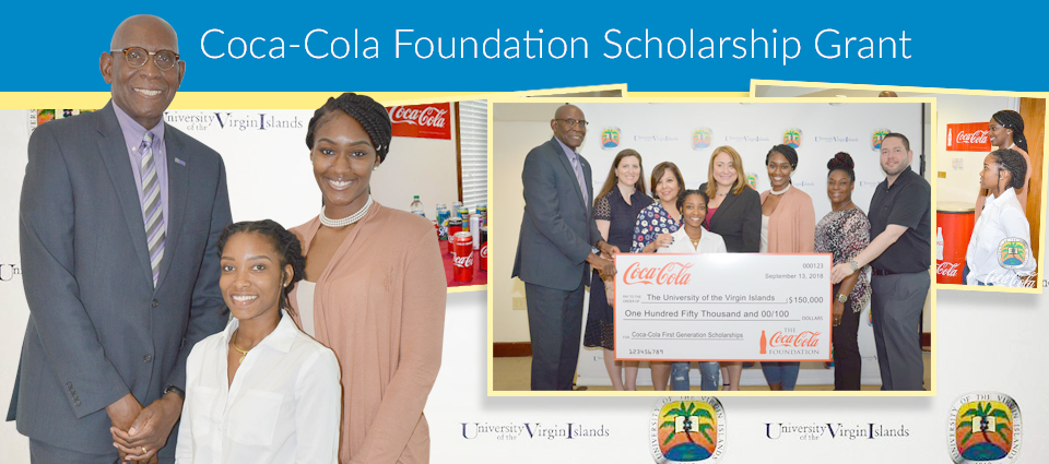 Four UVI Students Awarded Coca-Cola Scholarship Grant