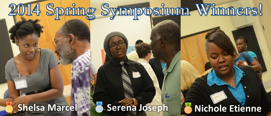 Winners of the 2014 St. Croix Spring Research Symposium