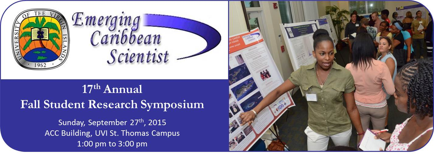 Annual UVI STEM Research Symposium with student scientific poster presentations