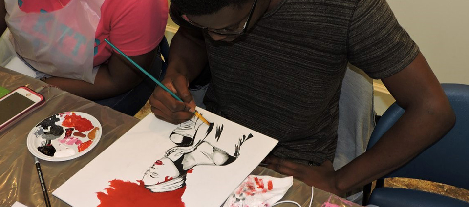 See the creative side of our students at Sip and Paints
