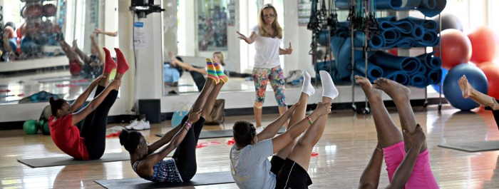 Qualified instructors offer a variety of fitness classes.