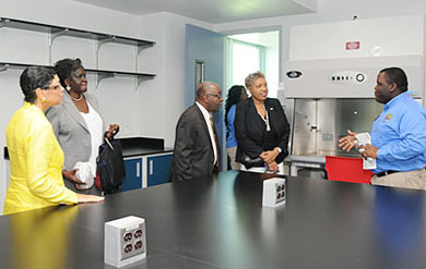 SGA provides tours of new UVI lab facilities on St. Croix