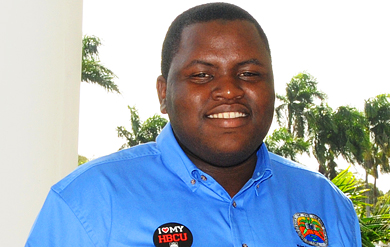 UVI Student Government Association (SGA) President Kevin Dixon
