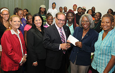 Photo of AT&T Check Presentation to UVI Summer Bridge Program