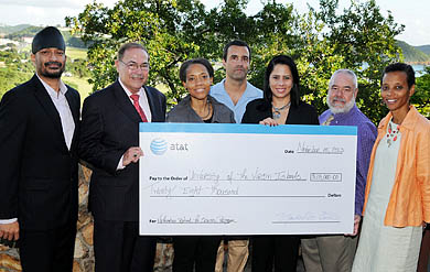 Photo of AT&T Grant Donation for UVI Summer Science Program