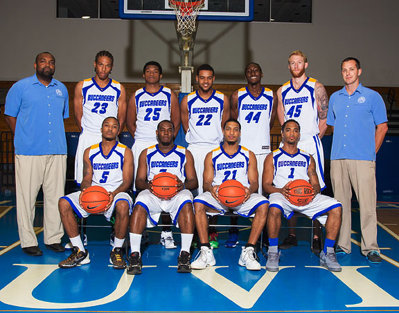 UVI Bucs Men's Basketball Team 2014