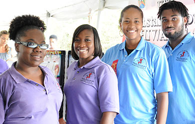Photo of UVI's Peer Educators during outreach program
