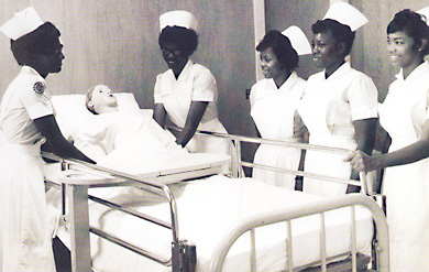 Historic photo of College of the Virgin Islands nurses