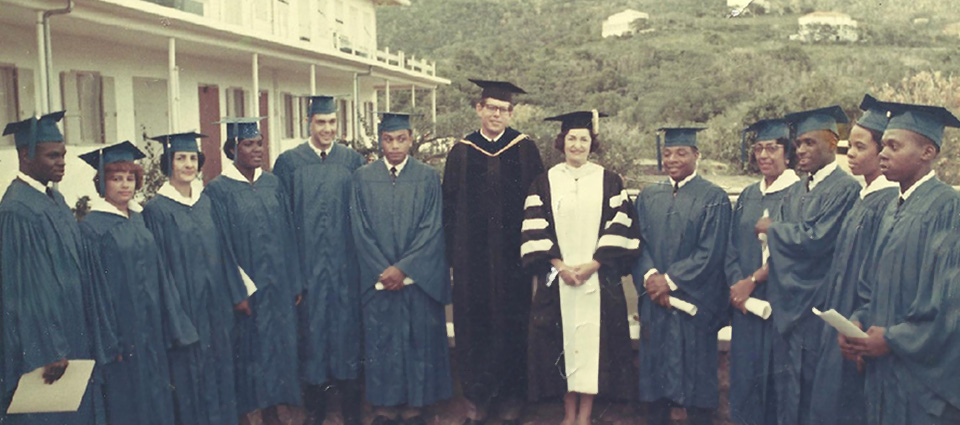 First Commencement Class at UVI