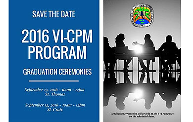 save the date for Certified Public Managers Program graduation ceremony