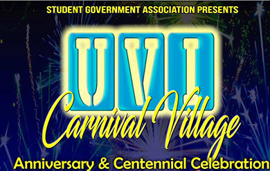 Logo of UVI's Carnival Village Anniversary and Centennial Celebration