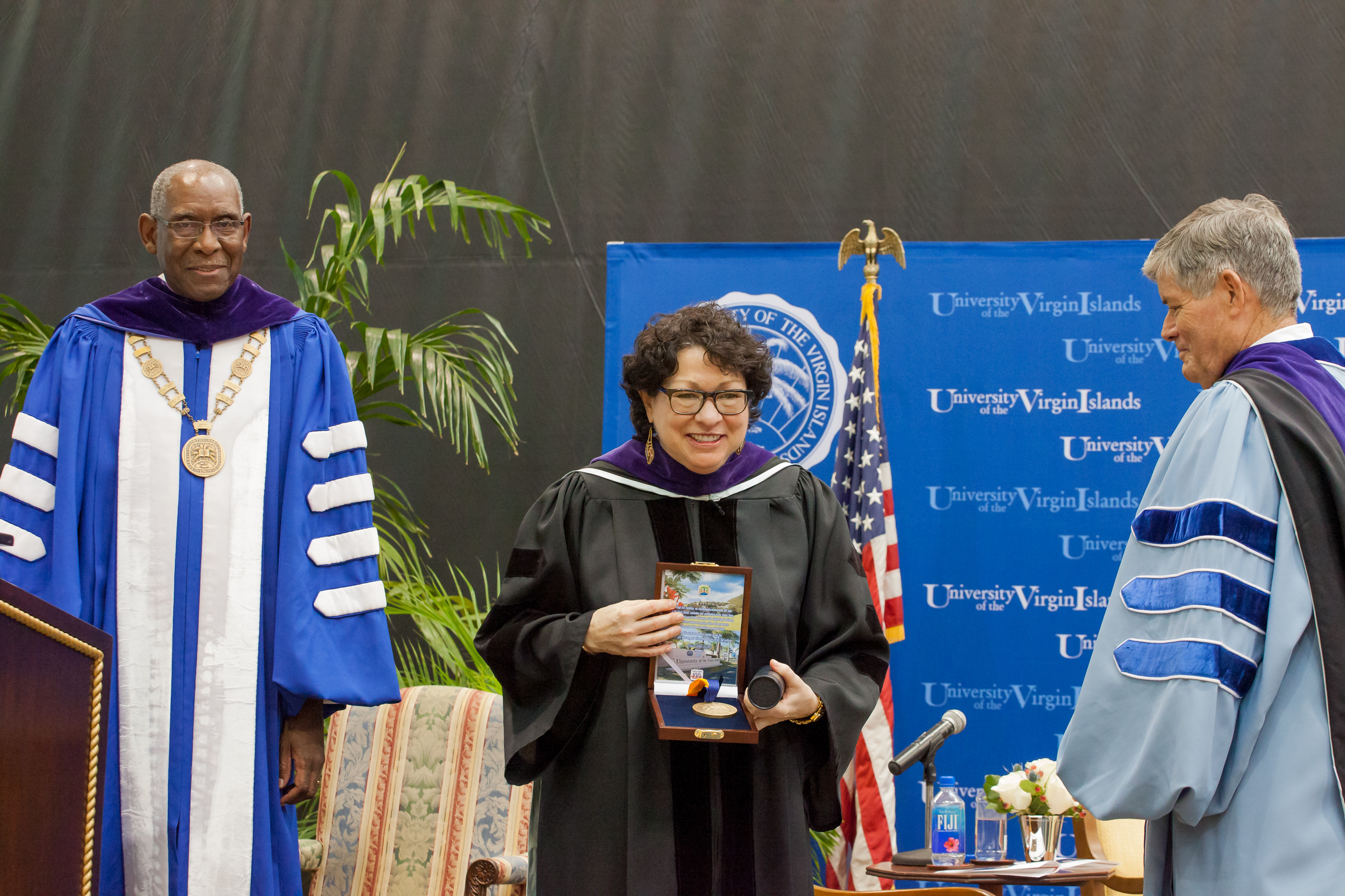 Justice Sotomayor accepts special UVI medallion