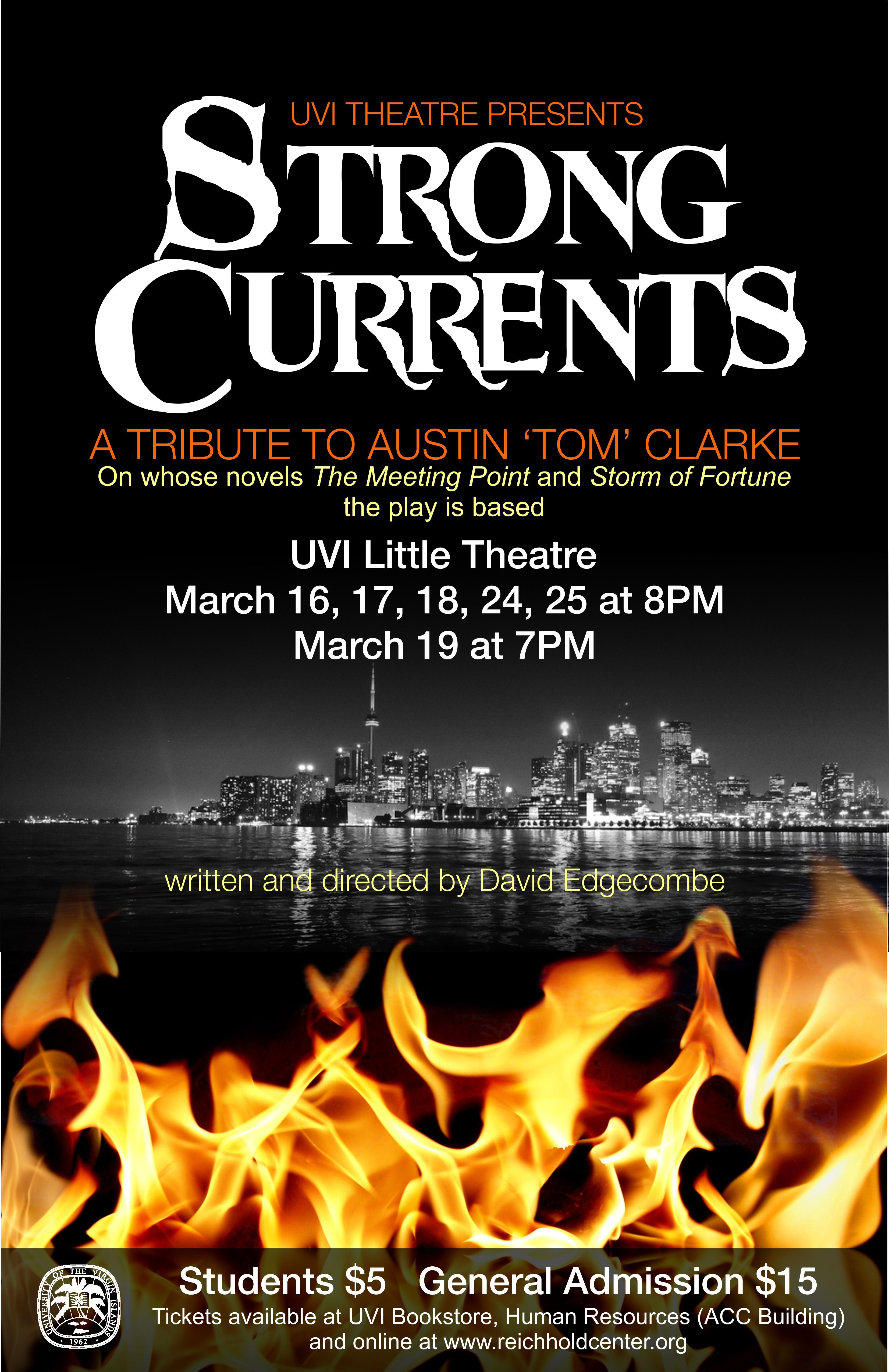 poster for strong currents play
