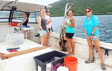 UVI MMES students conduct research