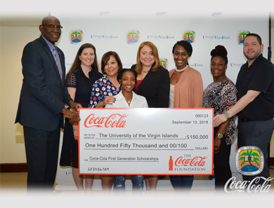 UVI Coca Cola Scholarship Grant Recipients