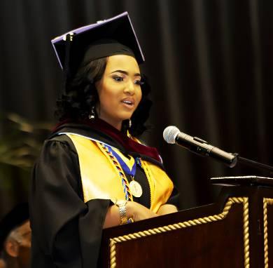 UVI Saint Thomas Class Speaker Che Raina Warner