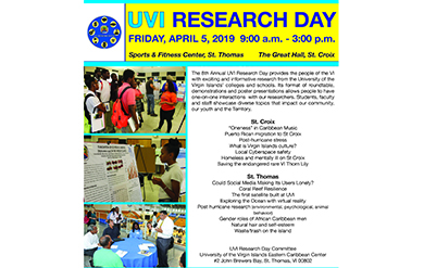UVI Research Day flyer