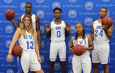 Image of UVI's Men and Women Basketball Players