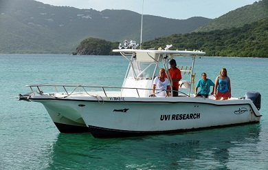The dock will be used by the UVI community conducting marine research